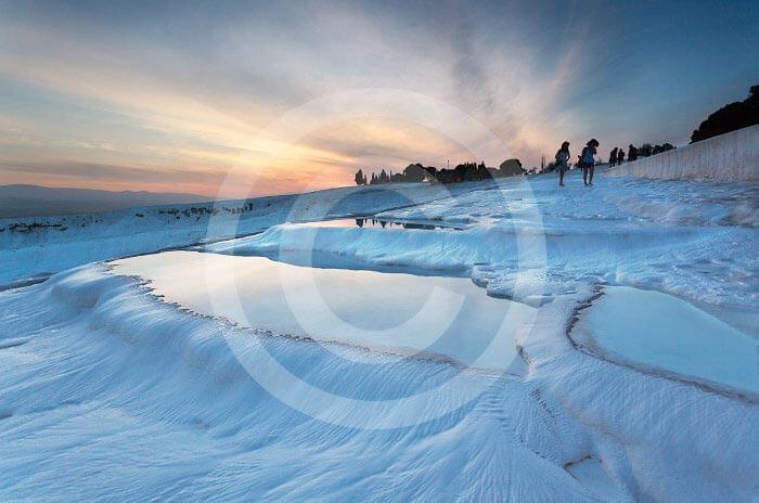 Wycieczka fakultatywna z Bodrum do Pamukkale trawertyny o zachodzie słońca