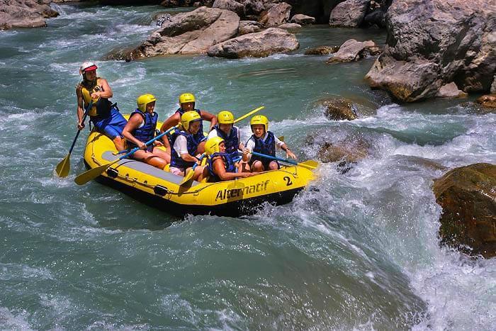 Rafting z Bodrum. Wycieczka rafting spływ pontonami po rzece Dalaman
